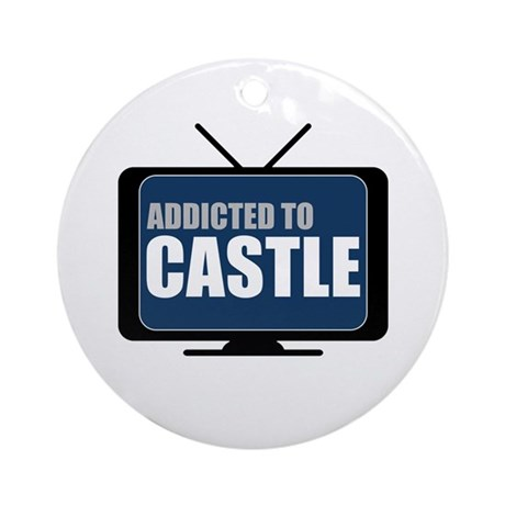 Addicted to Castle Round Ornament