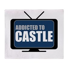 Addicted to Castle Throw Blanket