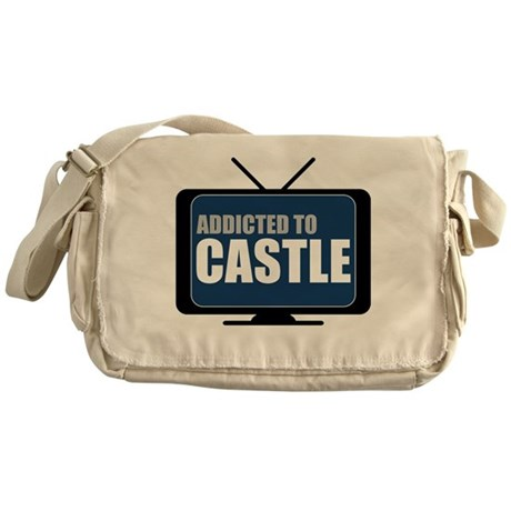 Addicted to Castle Canvas Messenger Bag