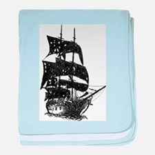 ghost pirate ship baby blanket