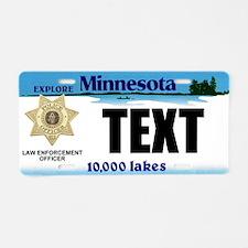 Minnesota Police Officer Custom License Plate