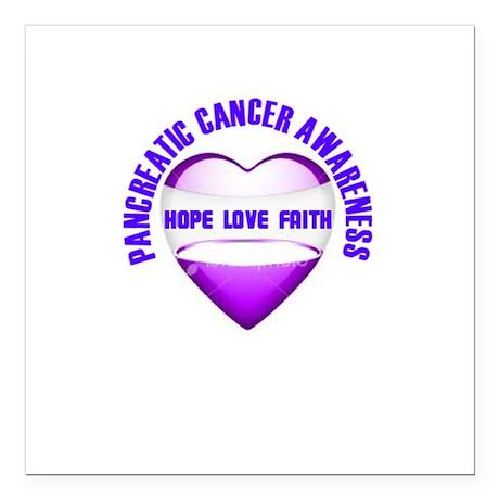 "Pancreatic Awareness Square Car Magnet 3"" x 3"""