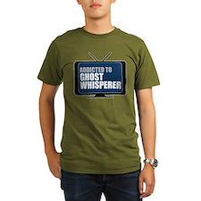 Addicted to Ghost Whisperer Organic Men's Dark T-S