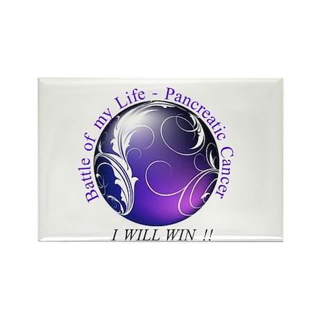 Pancreatic Battle Logo Rectangle Magnet