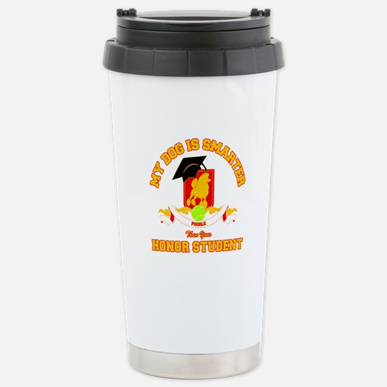 Poodle Stainless Steel Travel Mug