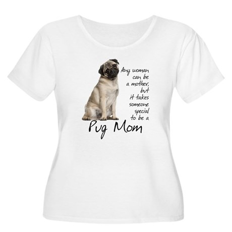 Pug Mom Women's Plus Size Scoop Neck T-Shirt
