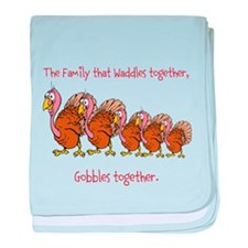Waddle Gobble Family baby blanket