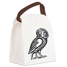 Athenas Owl Canvas Lunch Bag