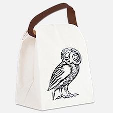 Athenas Owl Canvas Lunch Bag