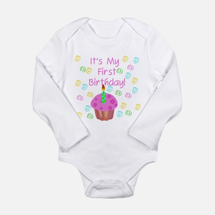 Cupcake First Birthday (Pink) Infant Creeper Body