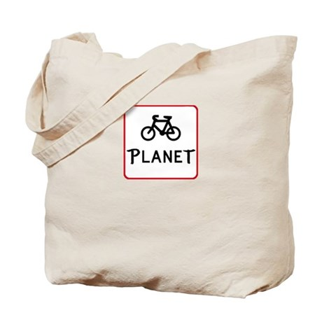Bicycle Planet Tote Bag