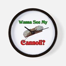 Wanna See My Cannoli? Wall Clock