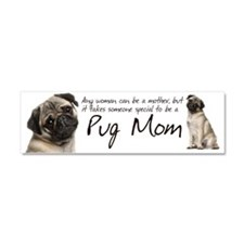 Pug Mom Car Magnet 10 x 3