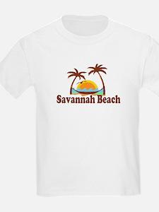 Savannah Beach GA - Palm Trees Design. T-Shirt