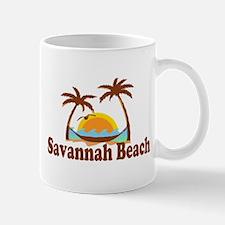 Savannah Beach GA - Palm Trees Design. Mug