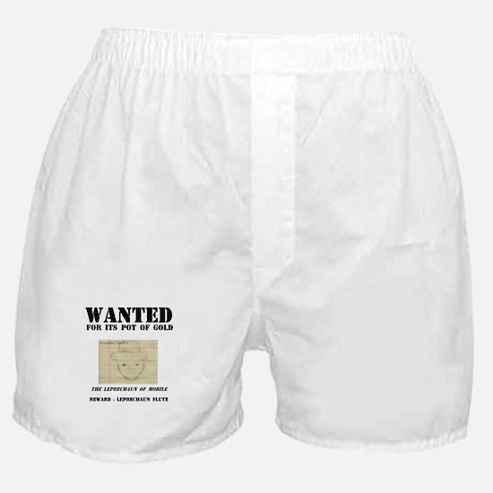 Wanted: Leprechaun Boxer Shorts