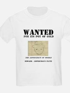Wanted: Leprechaun Kids T-Shirt