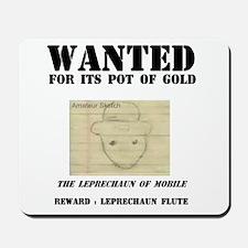 Wanted: Leprechaun Mousepad