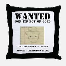 Wanted: Leprechaun Throw Pillow