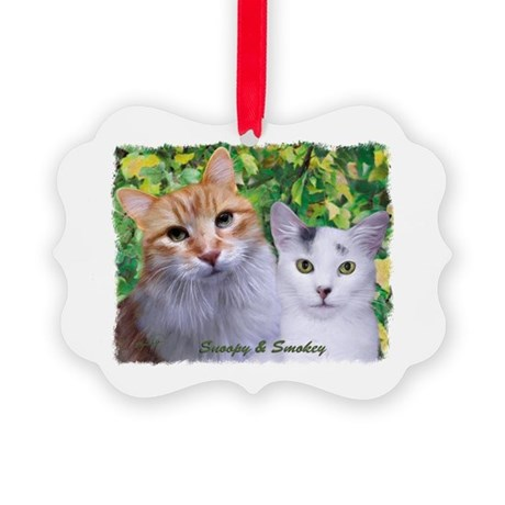 Snoopy & Smokey Picture Ornament