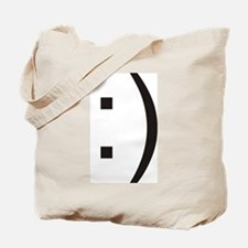 Text Smiley Face Tote Bag