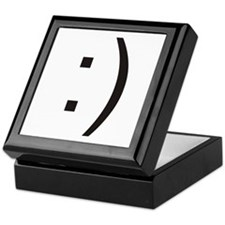 Text Smiley Face Keepsake Box