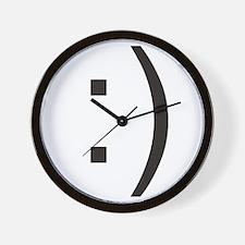 Text Smiley Face Wall Clock