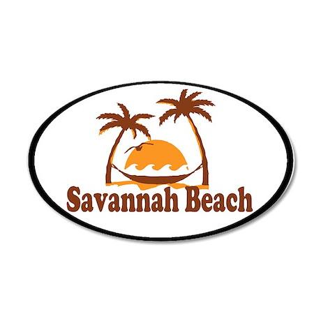 Savannah Beach Ga Palm Trees Design Wall Decal By
