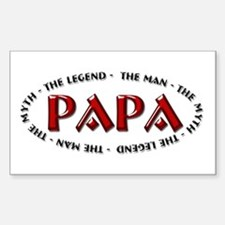 Papa - The Legend Rectangle Decal