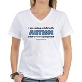 Autism mom tshirts Womens V-Neck T-shirts