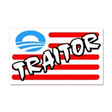 """Traitor: Barack Obama"" Car Magnet 20 x"