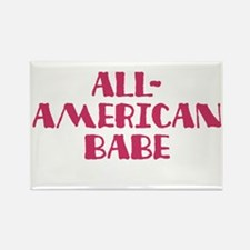 All-American Babe Rectangle Magnet