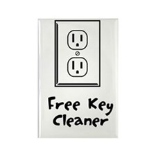 Free Key Cleaner Rectangle Magnet