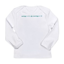 A penny saved is a penny earned Long Sleeve Infant
