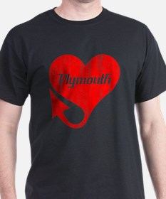Plymouth Heart - Weathered T-Shirt