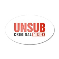 Criminal Minds UNSUB 38.5 x 24.5 Oval Wall Peel