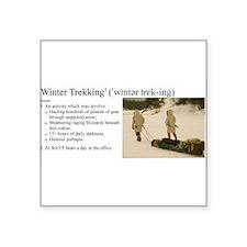 "Winter Trekking Square Sticker 3"" x 3"""