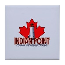 Indian Point Lighthouse Tile Coaster