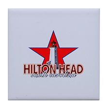 Hilton Head Lighthouse Tile Coaster