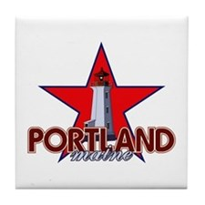 Portland Lighthouse Tile Coaster
