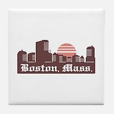 Boston Linesky Tile Coaster