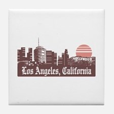 Los Angeles Linesky Tile Coaster
