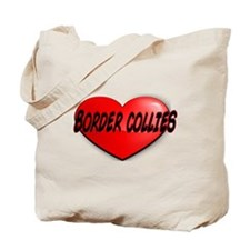 LOVE BORDER COLLIES Tote Bag