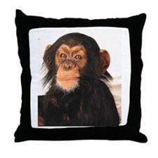 Monkey! Throw Pillow