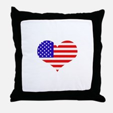 US Heart Throw Pillow