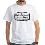 Doyle hargraves construction Mens White T-shirts