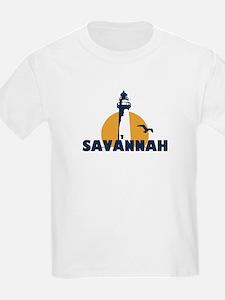Savannah Beach GA - Lighthouse Design. T-Shirt