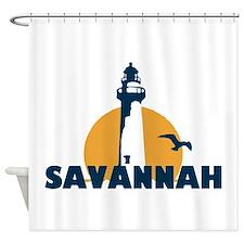 Savannah Beach GA - Lighthouse Design. Shower Curt