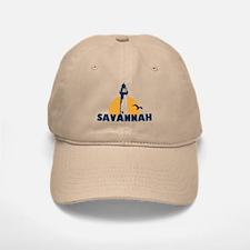 Savannah Beach GA - Lighthouse Design. Baseball Baseball Cap