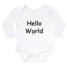 Hello World - Baby Geek Infant Creeper Body Suit